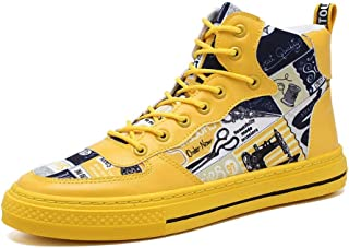Men's Casual Shoes, Non-Slip Wearable Lightweight Sneakers, High-Top Canvas Shoes