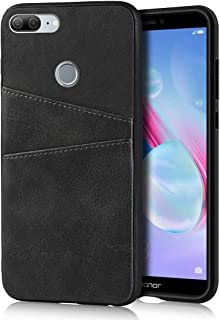 Cavor Compatible with Huawei Honor 9 Lite Case Wallet Design Premium Leather Case with 2 Card Holder Slots for Huawei Honor 9 Lite (Black)