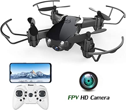 $38 Get Mini Drone with Camera for Kids and Adults, EACHINE E61HW WiFi FPV Quadcopter with HD Camera Selfie Pocket Nano Drone for Beginner RTF - Altitude Hold Mode, One Key Take Off/Landing, APP Control