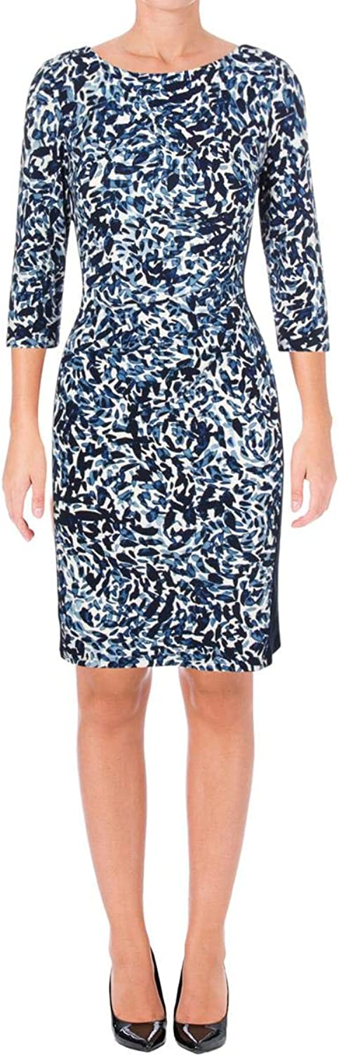 Lauren Ralph Lauren Womens Drew Abstract Printed Mini Dress