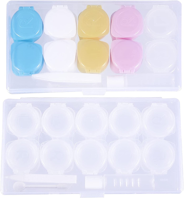 Healifty 2pcs Manufacturer OFFicial Large discharge sale shop Portable Contact Lens Containe Case Travel Kit Box