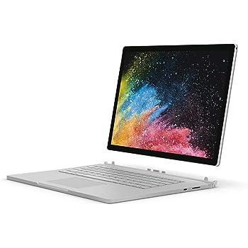 "Microsoft Surface Book 2 HNM-00001 Laptop (Windows 10, Intel i7-8650U, 13.5"" Screen, Storage: 512 GB, RAM: 16 GB) Silver"