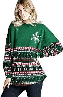 Simayixx Sweatshirts for Women Women Reindeer Ugly Christmas Sweater Xmas Snowflakes Pullover Jumper Tops