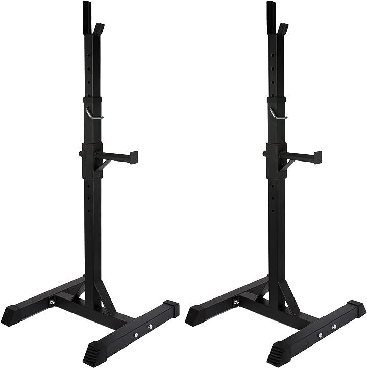sqaut rack supporto per bilanciere regolabile - ideale per esercizi di potenziamento muscolare powrx b01n74m50u
