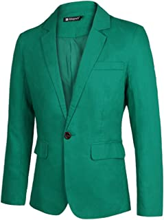 AidShunn Mens Jackets Casual Blazer Slim fit Suits Long Sleeve Lapel Three Button Outerwear Business Style