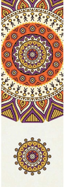 Baibian Gedruckt Yoga Handtuch Anti Slip Pilates Yoga Matte Abdeckung Tragbare Reise Yoga Decke Matte Handtuch Dünne Strandabdeckung,Braun
