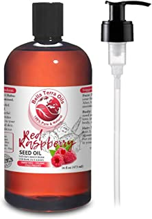 NEW Red Raspberry Seed Carrier Oil. 16oz. Cold-pressed. Unrefined. Organic. 100% Pure. Non-comedogenic. Hexane-free. Repai...