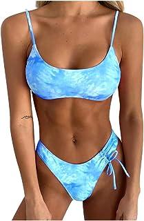 Sexy Women Tie-Dyed Push-Up Padded Bra Swimwear Two Piece Swimsuit Bandage Bikini Set