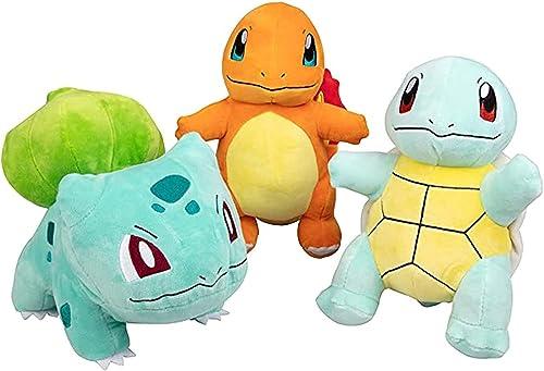 "new arrival Plush wholesale Starter 3 Pack - Charmander, Squirtle & Bulbasaur 8"" Generation One Stuffed AnimalsPlush popular Toys 5 outlet online sale"