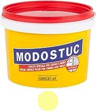 MODOSTUC Ivoor: professionele plamuurmassa, gebruiksklaar, ideaal voor hout en muren, sneldrogend en perfect hechtend, 1 kg.