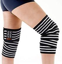 Kniebandage, voor gewichtheffen, elastische kniebandage en -compressie voor zware kniebuigingen, cross training, gewichthe...