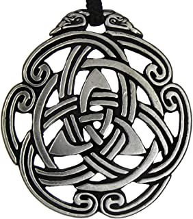 Celtic Peace Knot Triskelion Pendant Irish Jewelry Knotwork Sign Necklace