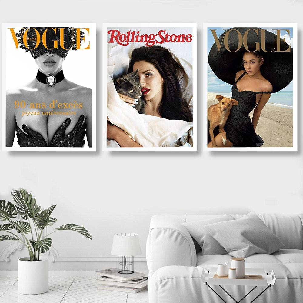 Vogue Woman Magazine Poster Prints Print Canvas Painting Wall Ranking integrated 1st place Ar Max 43% OFF