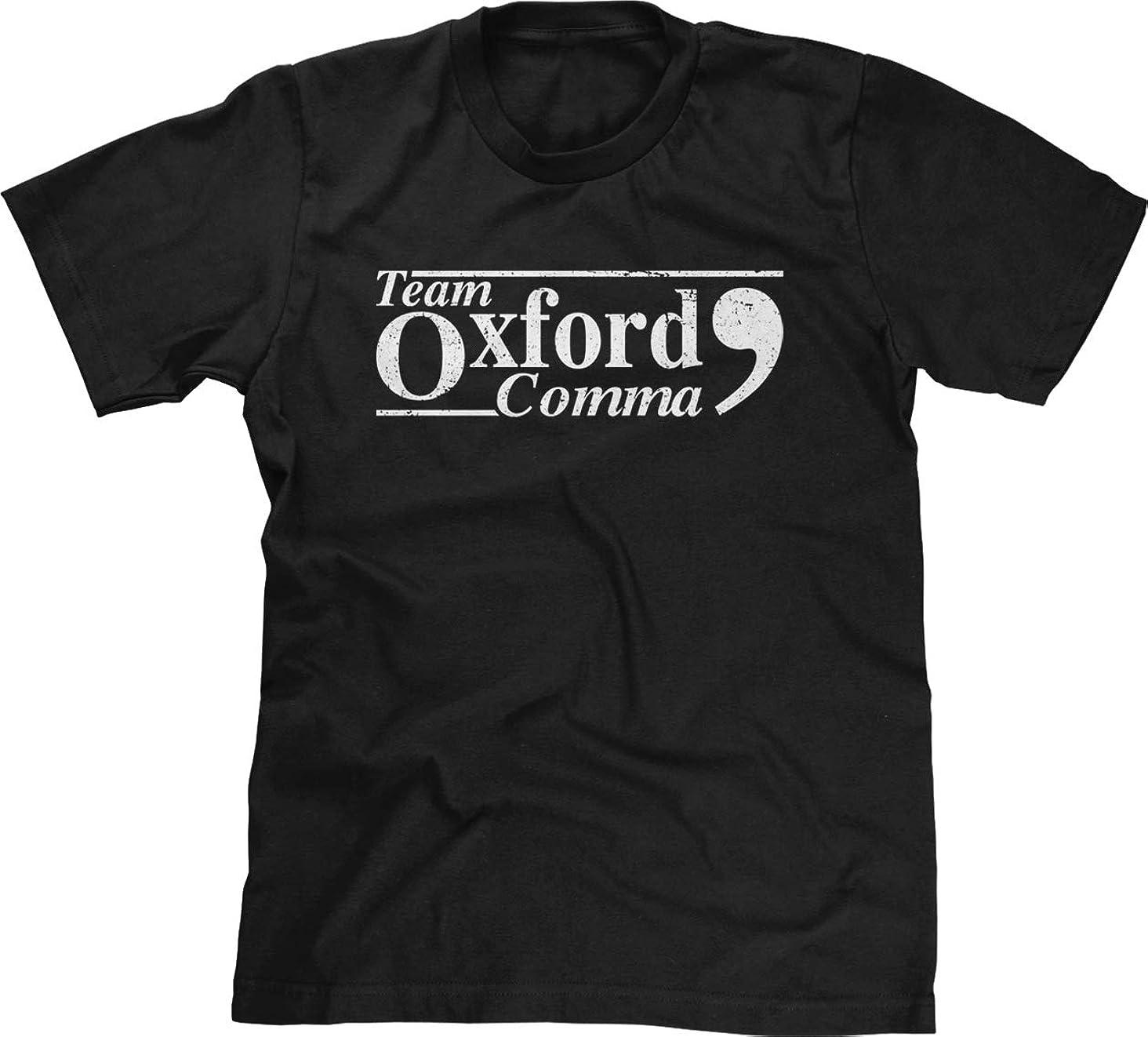 Blittzen Mens T-Shirt Team Oxford Comma - Punctuation Proud