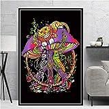Pilz visuelle Seele Bildung Poster und Druck psychedelische