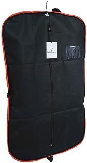 Kuber Industries™ Men's Coat Blazer Cover Foldover Breathable Garment Bag Suit Cover- Black