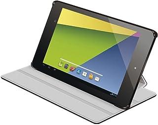 【2013年モデル】ELECOM 新型Nexus7(2013年モデル)対応 レザーカバー フラップ付4段階 ブラック TB-ASNXAPLF2BK