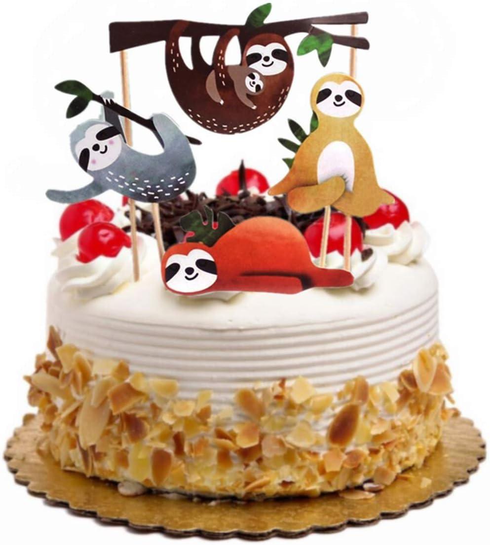Toyvian Sloth Cake Ranking TOP8 Bargain sale Topper Set Decor Cute Creative Ca Insert