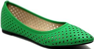 Women's Comfortable Point Toe Flat Pumps Shoes