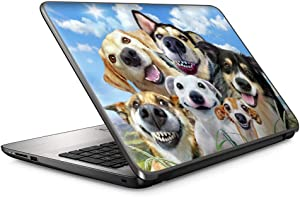 Selfie Dog Smile - 15 inches 15.6 inches Custom Fit Made to Order Laptop Notebook Skin Vinyl Sticker Cover Decal Fits HP Lenovo Apple Mac Dell Compaq Acer