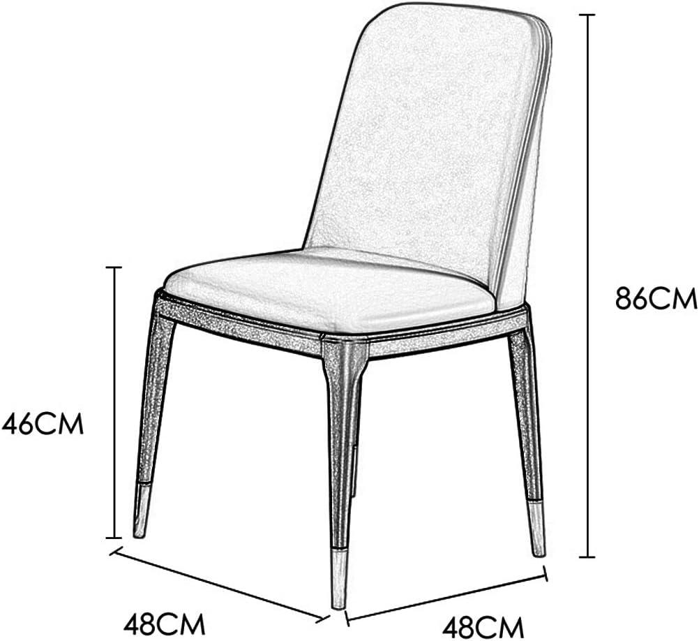 DXZ-Design Chaises de Salle à Manger Nordiques Cuisine Salon Comptoir Fauteuils d'angle avec Pieds en métal Assise et dossiers en Cuir PU, Marron White