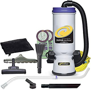 ProTeam Commercial Backpack Vacuum Cleaner, Super CoachVac Vacuum Backpack with HEPA Media Filtration and Residential Cleaning Service Kit, 10 Quart, Corded