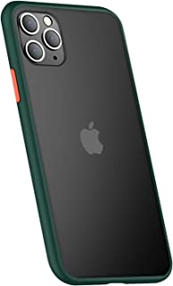 TERSELY Skin Feel Case for iPhone 11, Fully Protective Hard Matte Shockproof Bumper Rubber Translucent Slim Phone Case Cov...