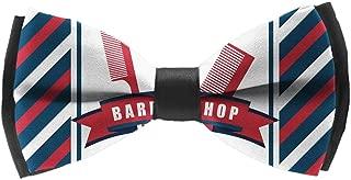 L Wright-King Men Barber Shop Flag Bow Tie Party Banquet Bowtie Wedding Accessories
