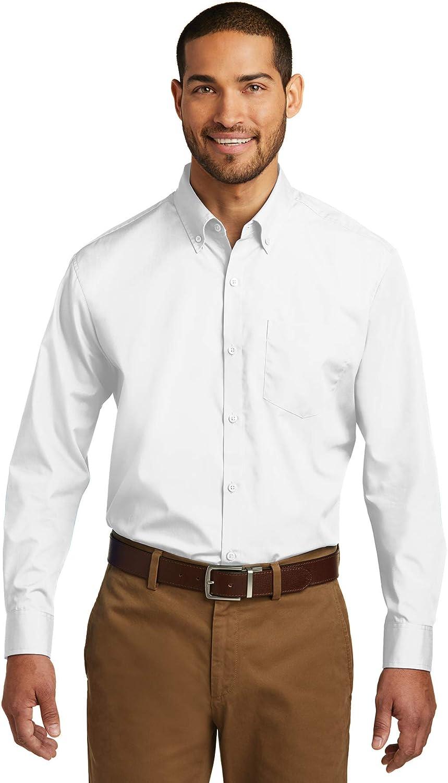 Port Authority Mens Tall Long Sleeve Carefree Poplin Shirt (TW100)