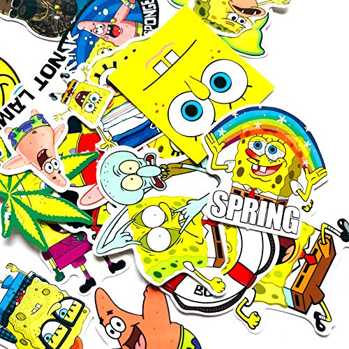 BLOUR 22pcs Cartoon Spongebob Amine Aufkleber wasserdichte Koffer Box Laptop Gitarre Gitarre Skateboard Fahrrad Spielzeug schöne DIY Spielzeug Aufkleber