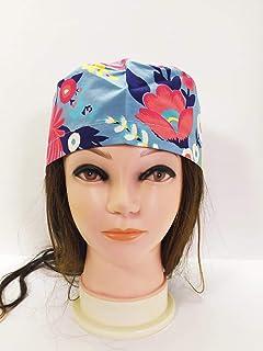 Tina Codazzo cuffia chirurgica in 100% cotone lavabile fantasia floreale