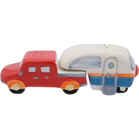 Beachcombers Truck and Camper 6.25-inch Salt and Pepper, Multicolor