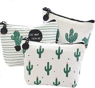 3 Pezzi Tela Di Cactus Portamonete Mini Portafoglio Cactus Portafogli In Tela Di Cactus Portamonete Con Stampa Borse Durev...