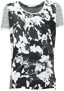 MaxMara Women's Vettura Floral Print Silk Front T-Shirt