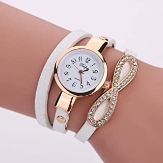 Wristband Women's Wrist Watches Ladies Series Girls Watch Female for Women Women's Round Watch,Colour Name:Black (Color : ...