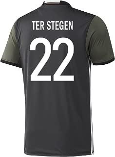 adidas TER Stegen #22 Germany Away Soccer Jersey Euro 2016 Youth