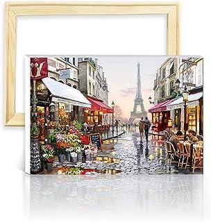 decalmile Pintura por Número de Kits DIY Pintura al óleo para Adultos Niños París Torre Eiffel 16