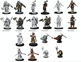 D&D Nolzur`s Miniatures W9: Tortles, Adventurers, Female & Male Human, Druid, Rogue, Female and Male Half-Orc, Barbarian Miniatures