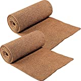 CloseoutZone Ice Carpet (Set of 2) Mats Walkway Home Safety, brown,