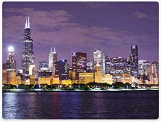 chicago skyline blanket