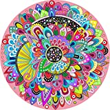 BXDOW Puzzles for Adults 1000 Piece-Colorful Indecision Mandala -1000 Pieces Color Challenge Cardboard Round Jigsaw Puzzles