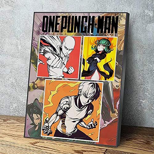 Puzzle 1000 piezas Pintura artística one punch hero decoración anime japonés lucha cuadro pintura puzzle 1000 piezas adultos Rompecabezas de juguete de descompresión intelectu50x75cm(20x30inch)