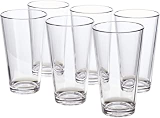 Bistro 20-ounce Premium Quality Clear Plastic Tumblers | set of 6