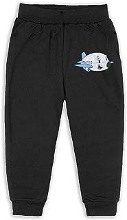 Easionerol Elephant An Cute Aeroplane Girls Long Sweatpants Jogger Trousers
