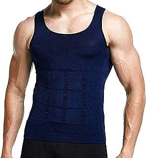 YRSINK Men's Slimming Body Shaper Compression Shirt Shapewear Vest Tank Top