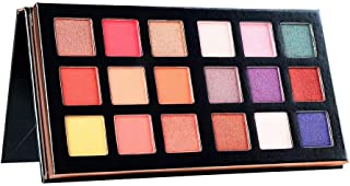 18 Colors Warm Tone Shimmer & Matte Long Lasting Pigmented Eyeshadow Palette Collection (18 colors warm tone)
