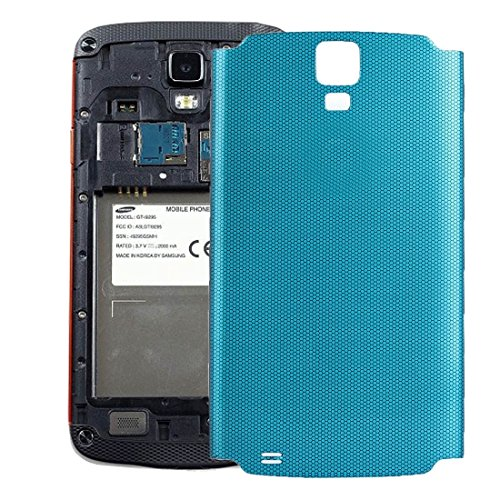 NO-LOGO Repuestos Batería Cubierta Posterior Compatible con Samsung Galaxy S4 Active / I537 (Color : Blue)