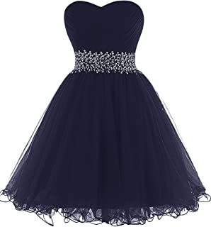 Homecoming Dresses Short Cocktail Party Dress Tulle Prom Dress Strapless Mini Evening Dress