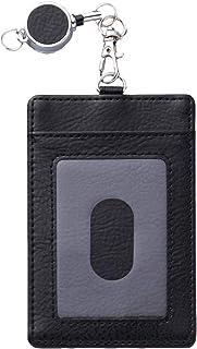 コモライフ 伸びるパスケース ブラック 長いリール40cm付 定期入れ パスケース 便利なストラップ ICカード