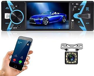 $49 » Hikity Single Din Car Stereo System 4.3 Inch Digital Screen Car Radio Bluetooth Audio Hands Free Call, FM Receiver, USB Fa...
